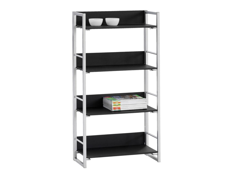 Picture of: Computersalg Dk Jysk 3610054 Utility Shelf Rack Mdf Metal Pvc Black Silver