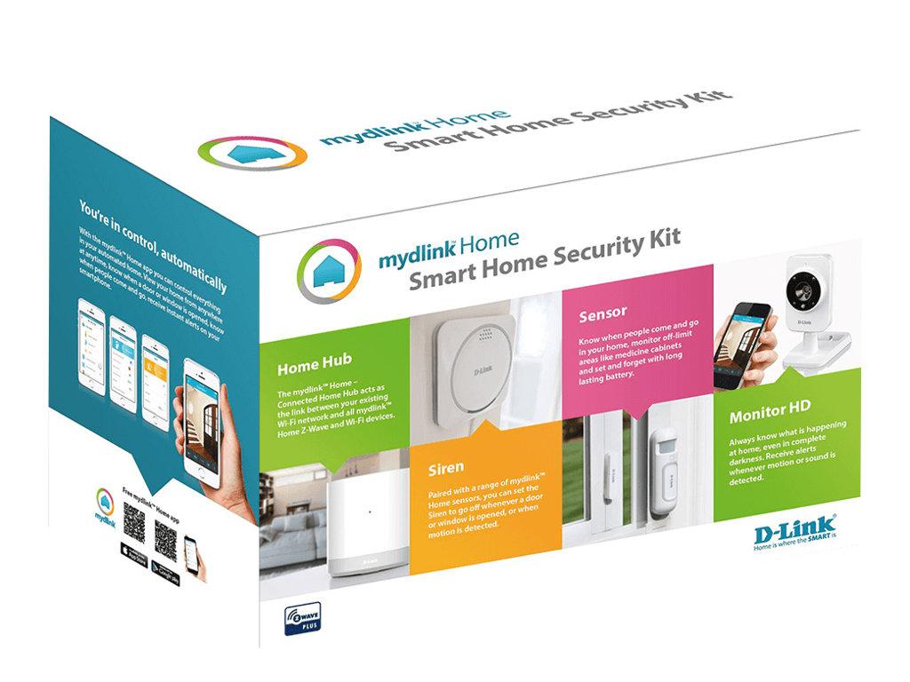 mydlink home smart home security kit hjemmealarmsystem tr dl s wi fi z wave. Black Bedroom Furniture Sets. Home Design Ideas