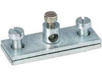 Jordklemme 939 Tilslutning maks. 16 mm² Stål El-forzinket for Gitterbakke.