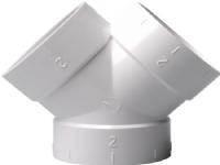 NILFISK Grenrør 45°, dobbelt 2x45° til rørsystem for centralstøvsuger.