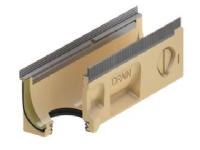 Bilde av Afløbsrende 10.2 M/pakn. 0,5m - Aco V100s Seal In, Kombielement Med 110mm Udløb. Galv. Karm
