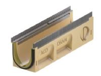 Bilde av Afløbsrende 10.1 M/pakn. 0,5m - Aco V100s Seal In, Kombielement. Galv. Karm