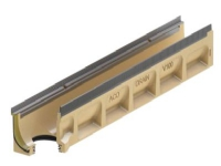 Bilde av Afløbsrende 10.0.2 M/pakn 1,0m - Aco V100s Seal In, Med 110mm Udløb. Galv. Karm
