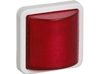 LAURITZ KNUDSEN OPUS® 74 signallampe rød LED 230 V konstant/blink lysegrå