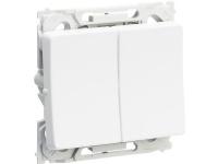 LAURITZ KNUDSEN Opus® 66 afbryder dobbelt korrespondance 16A 250V hvid