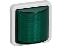 LAURITZ KNUDSEN Opus® 74 signallampeLED 24V AC/DC konstant/blinkgrøn