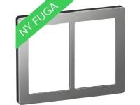 LAURITZ KNUDSEN FUGA PURE designramme stål 2×15 modul stål