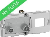 LAURITZ KNUDSEN FUGA TV/R+RJ45 SlutdåseTD31E 2Modul indsats