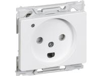 LAURITZ KNUDSEN Opus® 66 stikkontaktmed lampe 250V2 polet m/jordhvid