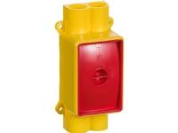 LAURITZ KNUDSEN Indstøbningsdåse til komfurudtag gul
