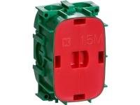 LAURITZ KNUDSEN Fuga® indmuringsdåse 15 modul 49 mm dyb grøn.