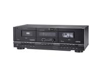 Renkforce TP-1000 Tape Deck Sort Dobbelt-kassettebåndoptager