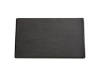 Serveringplade 1/3 GN 32×17.5 cm Melamin Skiferlook sort1 stk