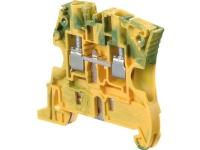 TE CONNECTIVITY Gennemgangsklemme PE 6 mm² gul/grøn Bredde 6 mm