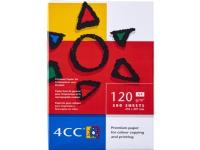 Bilde av Kopipapir 4cc A4 Hvid 120g Til Farve Kopi/inkjet/laser - (500 Ark)