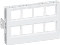 LAURITZ KNUDSEN Dataudtag CLICLINE® T7for 8 Actassi® konnektorerFarve: hvid
