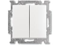 Bilde av Abb-basic55 Dobbelt Korrespondanceafbryder, Blank Hvid, 10a, 1 Modul, Leveres Inklusive Tangenter