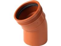 PVC kloak bøjning Ø160 mm 30 grader