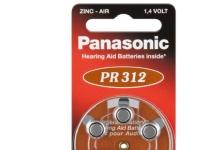Bilde av 10x1 Panasonic Pr 312 Hearing Aid Batteries Zinc Air 6 Pcs.