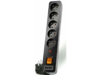 Bilde av Power Strip Acar X5 Surge Protector 5 Sockets 1.5m Black (alp-acarx5 ----- 00n)