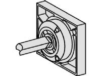 SCHNEIDER ELECTRIC Drejegreb sort sidemontage til INS250