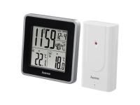 Hama EWS Intro Svart Silver Inomhustermometer Utomhustermometer Termometer 0