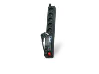 Bilde av Power Strip Acar 504wf Surge Protection 5 Sockets 1.5m Black (alpacar504wf0n)