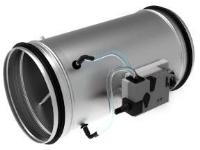 Bilde av Air2trust Vav-spjæld Rvpc250 Mfb For Analog Styring 0-10/(0)2-10v Uden Bus Med Belimo Mf Aktuator Og Ovalt Spjældblad For 60° Lukkefunktion.