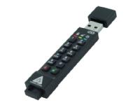 Bilde av Apricorn Aegis Secure Key 3nx - Usb-flashstasjon - Kryptert - 16 Gb - Usb 3.1 Gen 1 - Fips 140-2 Level 3