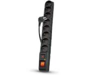 Bilde av Power Strip Acar S8 Pro Surge Protector 8 Sockets 1.5m Black (alpacars8pro0n)