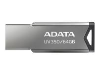Bilde av Adata Uv350 - Usb-flashstasjon - 64 Gb - Usb 3.2 Gen 1 - Sølv