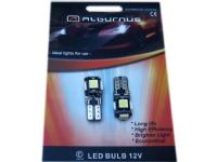 Bilde av Alburnus Automobilines Led Lemputes Alburnus W5w/t10, 5led Smd Canbus
