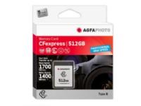 Bilde av Agfaphoto Cfexpress Professional, 512 Gb, Cfexpress, Nand, 1700 Mb/s, 1400 Mb/s, Kuldebestandig, Varme Motstandig, Sjokkresistent, Røntgenbestandig