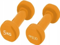 Bilde av 4fizjo Rubberised Dumbbells 2x5kg