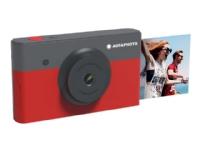 Bilde av Agfaphoto Realipix Mini S - Digitalkamera - Kompakt Med øyeblikkelig Bildeskriver - 10.0 Mp - Bluetooth - Rød