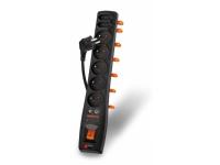 Bilde av Power Strip Acar Surge Protector 7 Sockets 1.5m Black (alpaxon370dvbt0n)