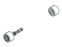 Brother - Paper pull-in roller assembly