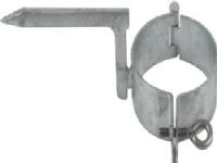 Hængselsstift galvaniseret til mur 87mm