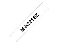 Brother M-K221BZ - Svart på vitt - Rulle (0,9 cm x 8 m) 1 rulle (rullar) etiketttejp - för P-Touch PT-55, PT-65, PT-75, PT-80, PT-85, PT-90, PT-BB4, PT-M95