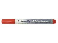 Bilde av Ballograf Friendly - Markør - Ikke-permanent - For Whiteboard - Rød - Alkoholbasert Blekk - Medium