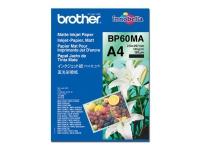 Brother BP60MA Matte Inkjet Paper - Mat - A4 (210 x 297 mm) - 145 g/m² - 25 ark papir