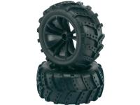 Komplette hjul 1:10 Reely Monstertruck Extreme 5 dobbelte eger Sort 2 stk