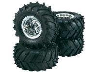 Komplette hjul 1:10 Reely Monstertruck Traktor 5 eger Krom 4 stk