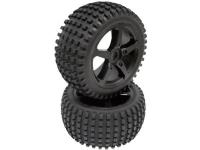 Komplette hjul 1:8 Reely Truggy Overheater 5 eger Sort 1 pair