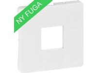 LAURITZ KNUDSEN Afdækning for FUGA 1xRJ11 modular udtag 1 modul farve: hvid