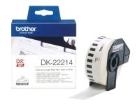 Brother DK-22214 - Vit - Rulle (1,2 cm x 30,5 m) termiskt papper - för Brother QL-1050, 1060, 500, 550, 560, 570, 580, 600, 650, 700, 710, 720, 820