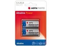 Bilde av Agfaphoto 110-802626, Single-use Battery, C, Alkalinsk, 1,5 V, 2 Stykker, Blå, Grå