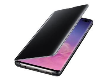 8b4af4a4137 Samsung Clear View Cover EF-ZG975 - Flipomslag til mobiltelefon - sort -  for Galaxy S10+